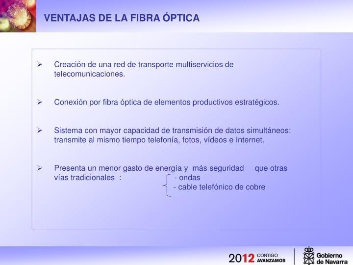 VENTAJAS DE LA FIBRA ÓPTICA