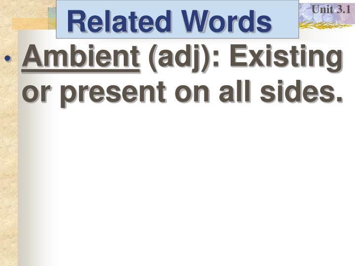 Related words1