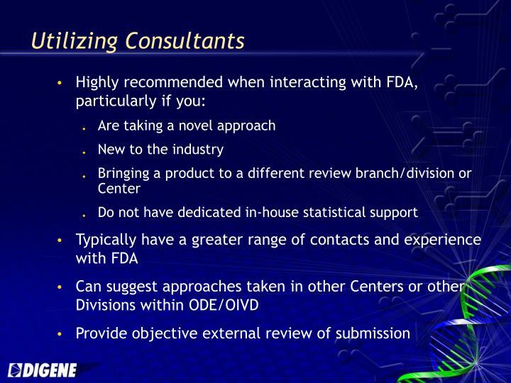 Utilizing Consultants
