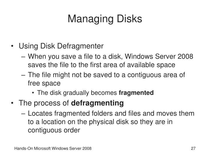 Managing Disks