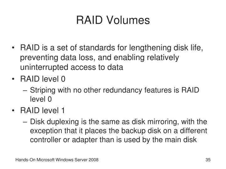 RAID Volumes