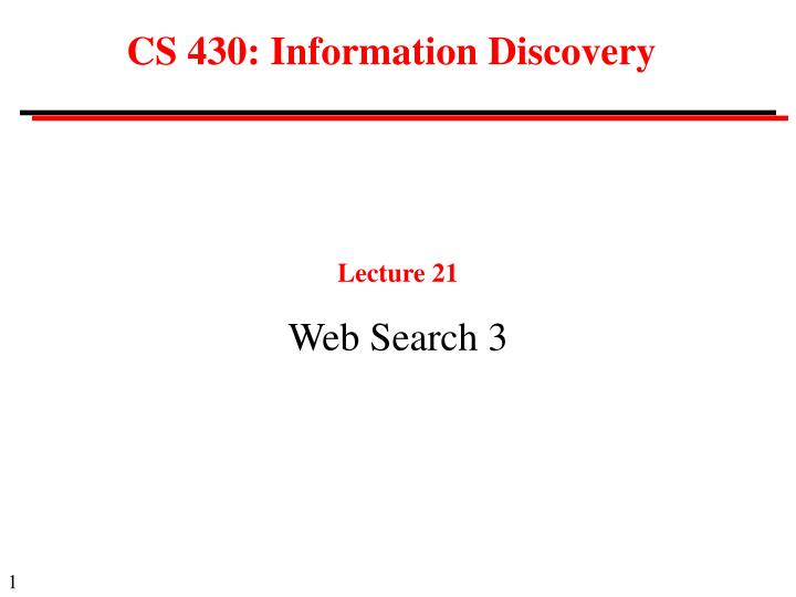 cs 430 information discovery n.