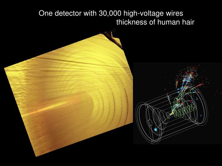 One detector with 30,000 high-voltage wires