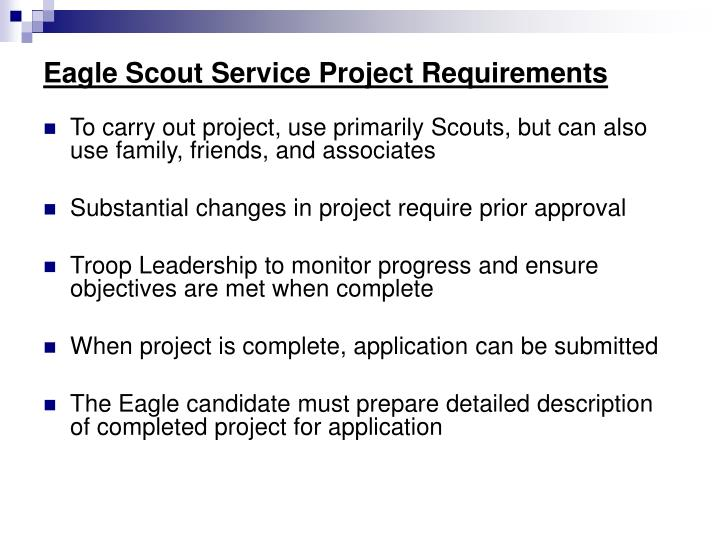 Eagle Scout Service Project Requirements