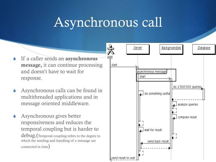 Asynchronous call