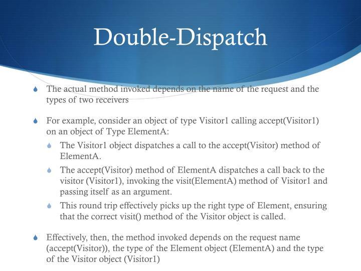 Double-Dispatch