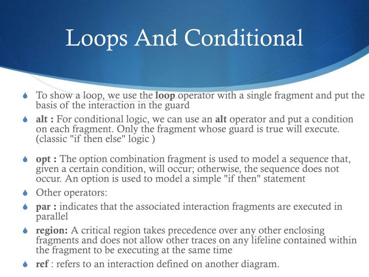 Loops And Conditional