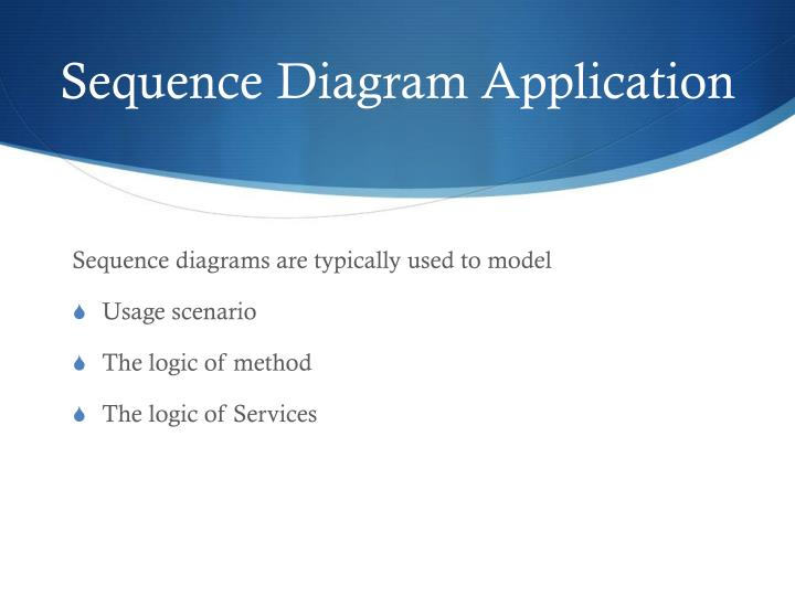 Sequence Diagram Application