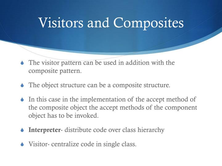 Visitors and Composites