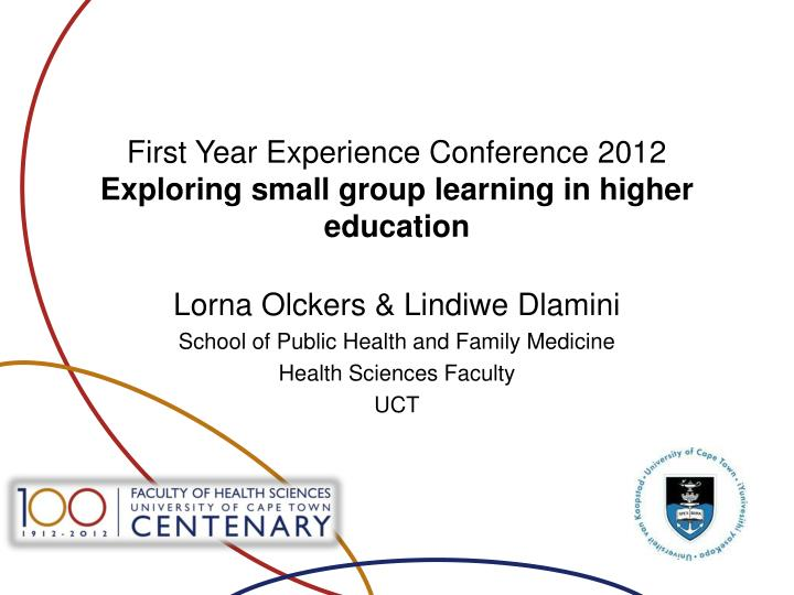 first year experience conference 2012 exploring small group learning in higher education n.