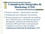 comunica es integradas de marketing cim