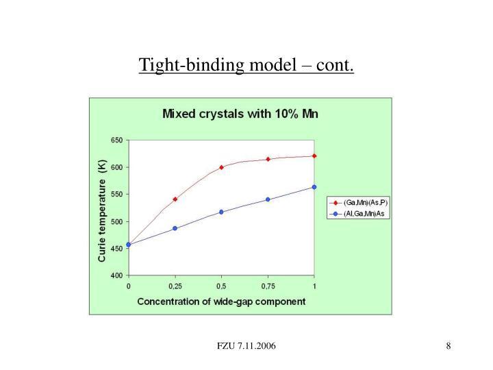 Tight-binding model – cont.