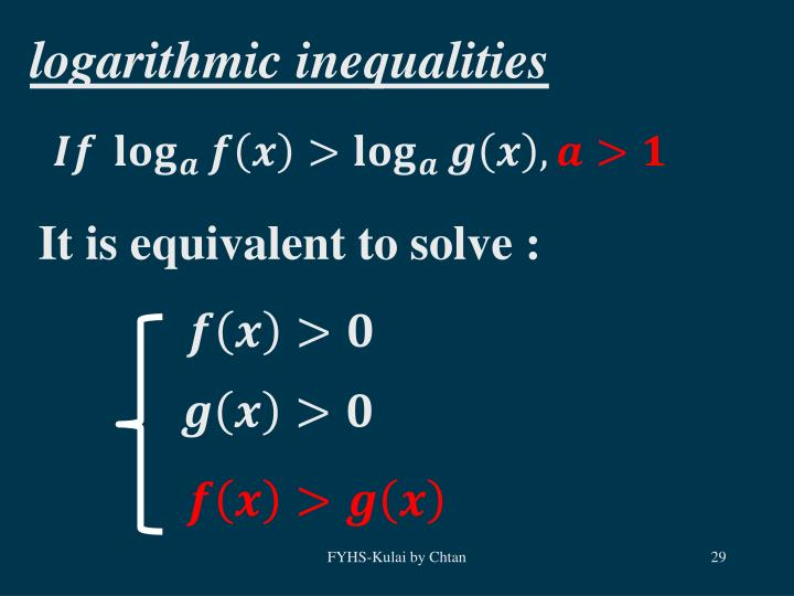 logarithmic inequalities
