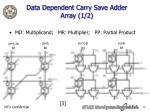 data dependent carry save adder array 1 2