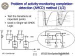 problem of activity monitoring completion detection amcd method 1 2