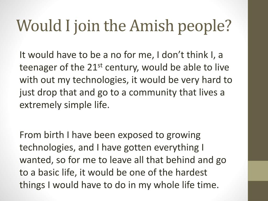 PPT - Amish people PowerPoint Presentation - ID:3940623