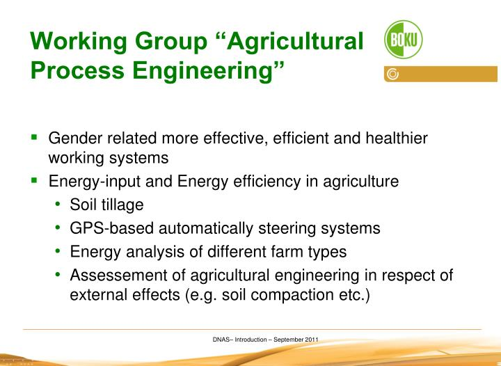 "Working Group ""Agricultural Process Engineering"""