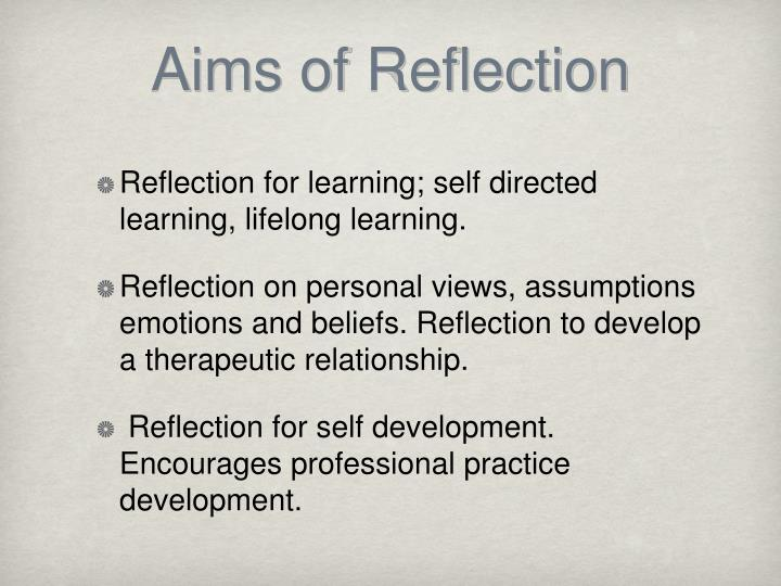 demonstrate the ability to reflect on practice essay The intention of this written essay is to demonstrate an understanding of my views on the art and science of reflection and the issues surrounding reflective practice.
