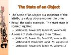 the state of an object