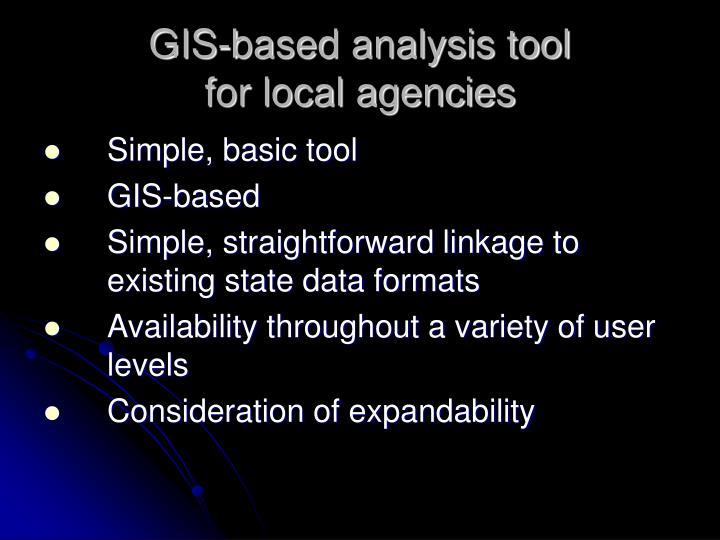 GIS-based analysis tool