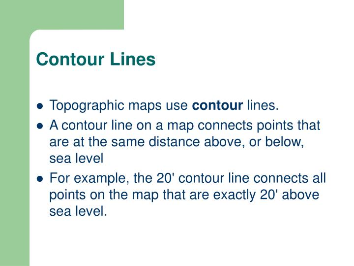 Contour Lines On A Topographic Map Connect.Ppt Aim How To Read A Topographic Map Powerpoint Presentation