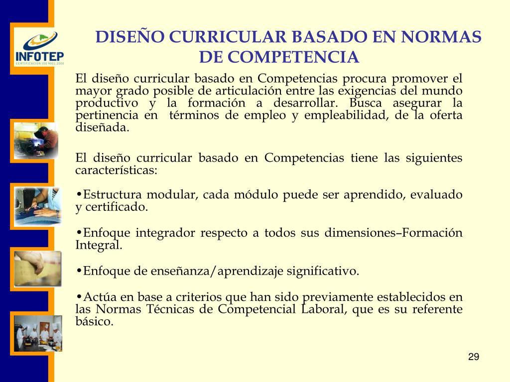 Ppt Normalización Diseño Curricular Formación