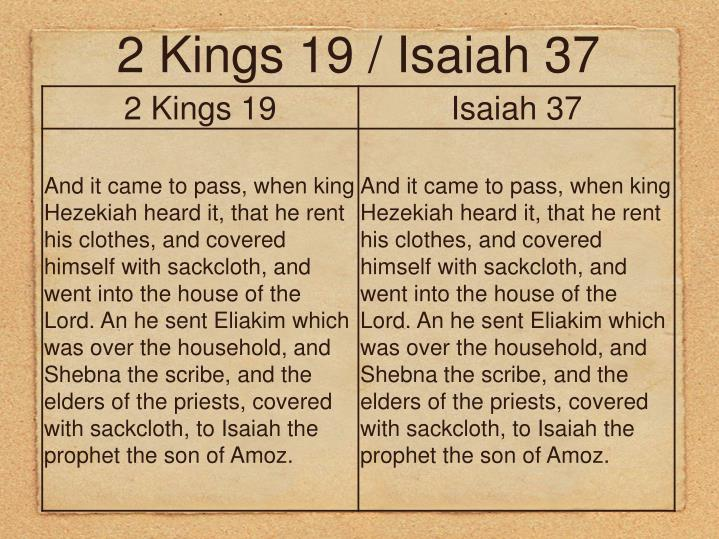 2 Kings 19 / Isaiah 37
