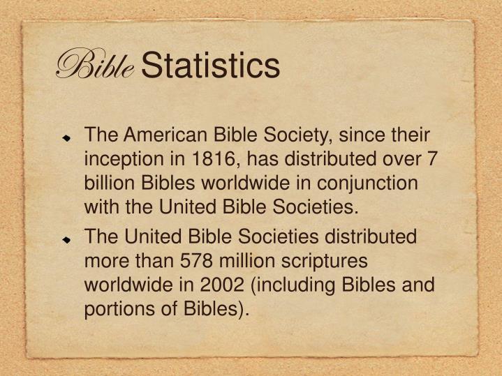 Bible statistics1