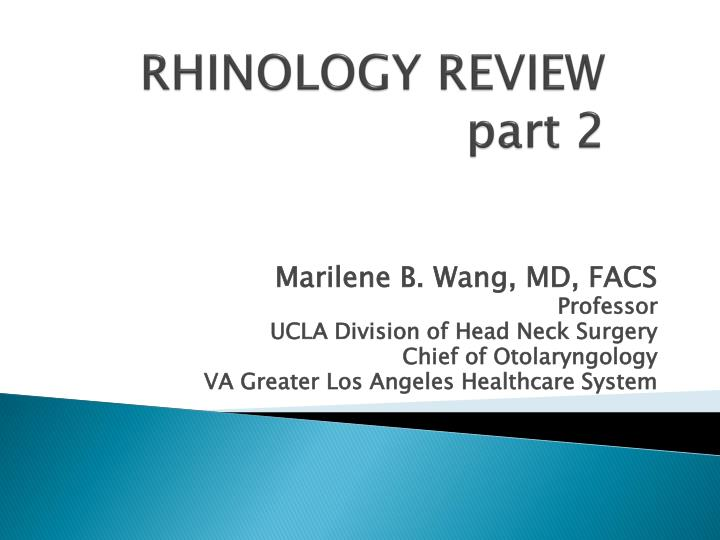 rhinology review part 2 n.