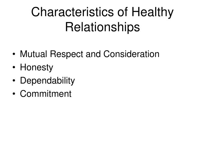 healthy relationships characteristics