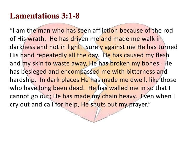 Lamentations 3:1-8