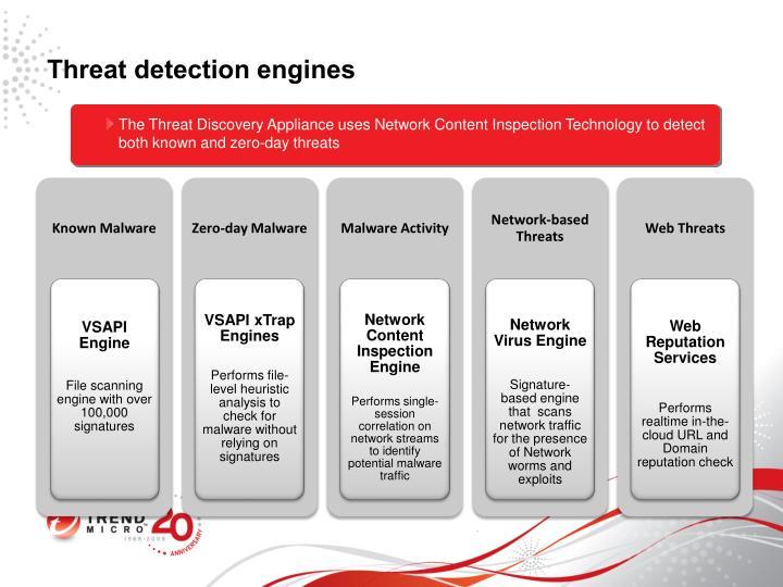 Threat detection engines