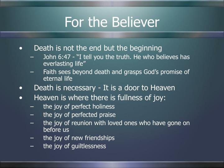 For the Believer