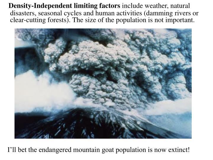 Density-Independent limiting factors