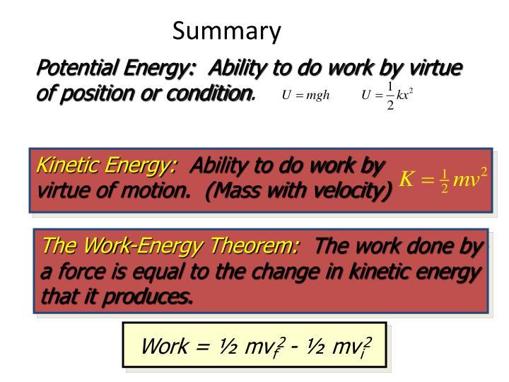 Kinetic Energy: