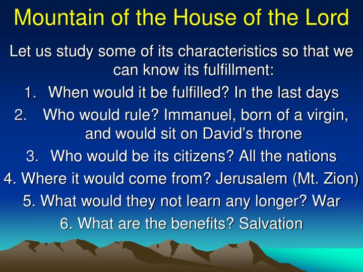 Mountain of the House of the Lord