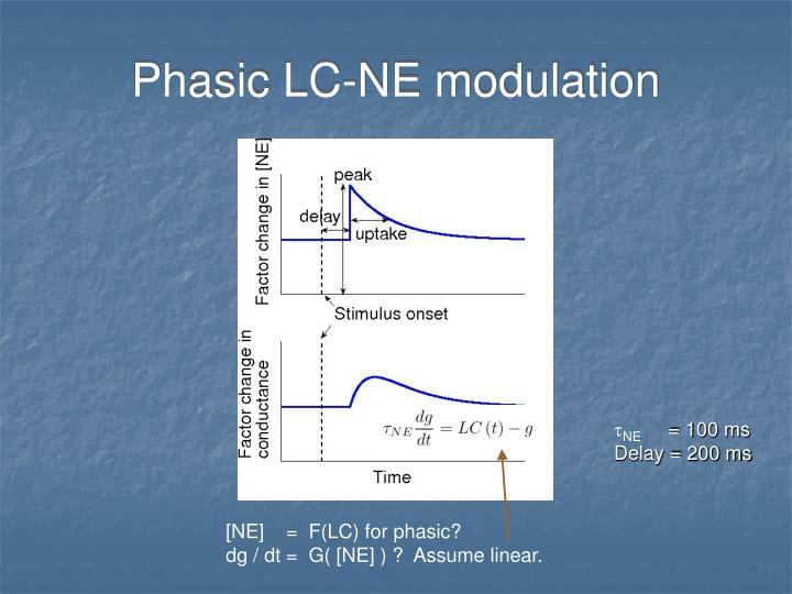 Phasic LC-NE modulation