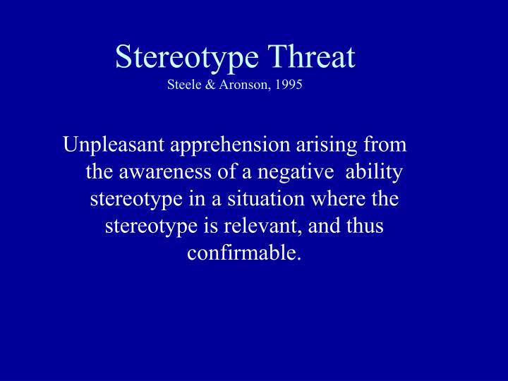 Stereotype Threat