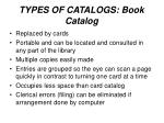 types of catalogs book catalog
