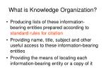 what is knowledge organization1