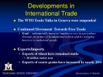 developments in international trade