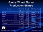 global wheat market production shares