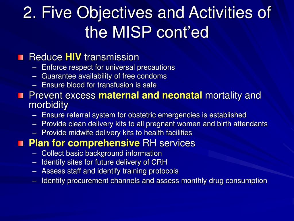 PPT - 1  Minimum Initial Service Package (MISP) for Reproductive