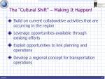 the cultural shift making it happen