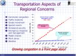 transportation aspects of regional concerns