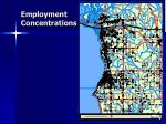 employment concentrations