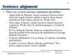 sentence alignment1