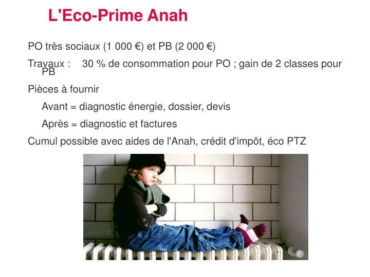 L'Eco-Prime Anah