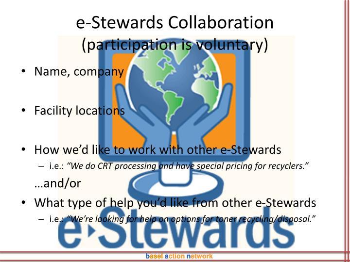 e-Stewards Collaboration
