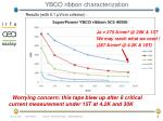 ybco ribbon characterization